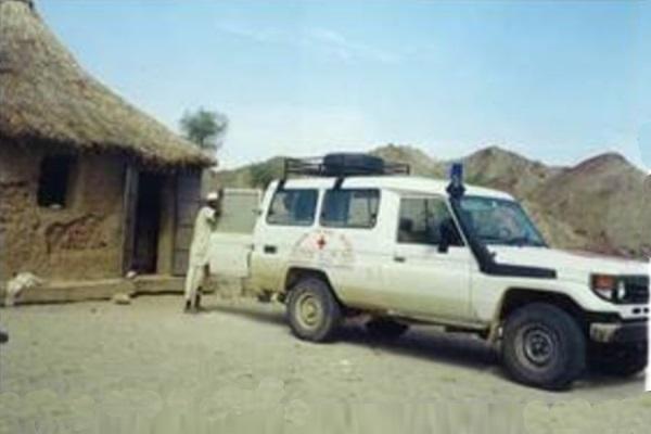 Der Land Rover Als Krankenwagen Verwendet