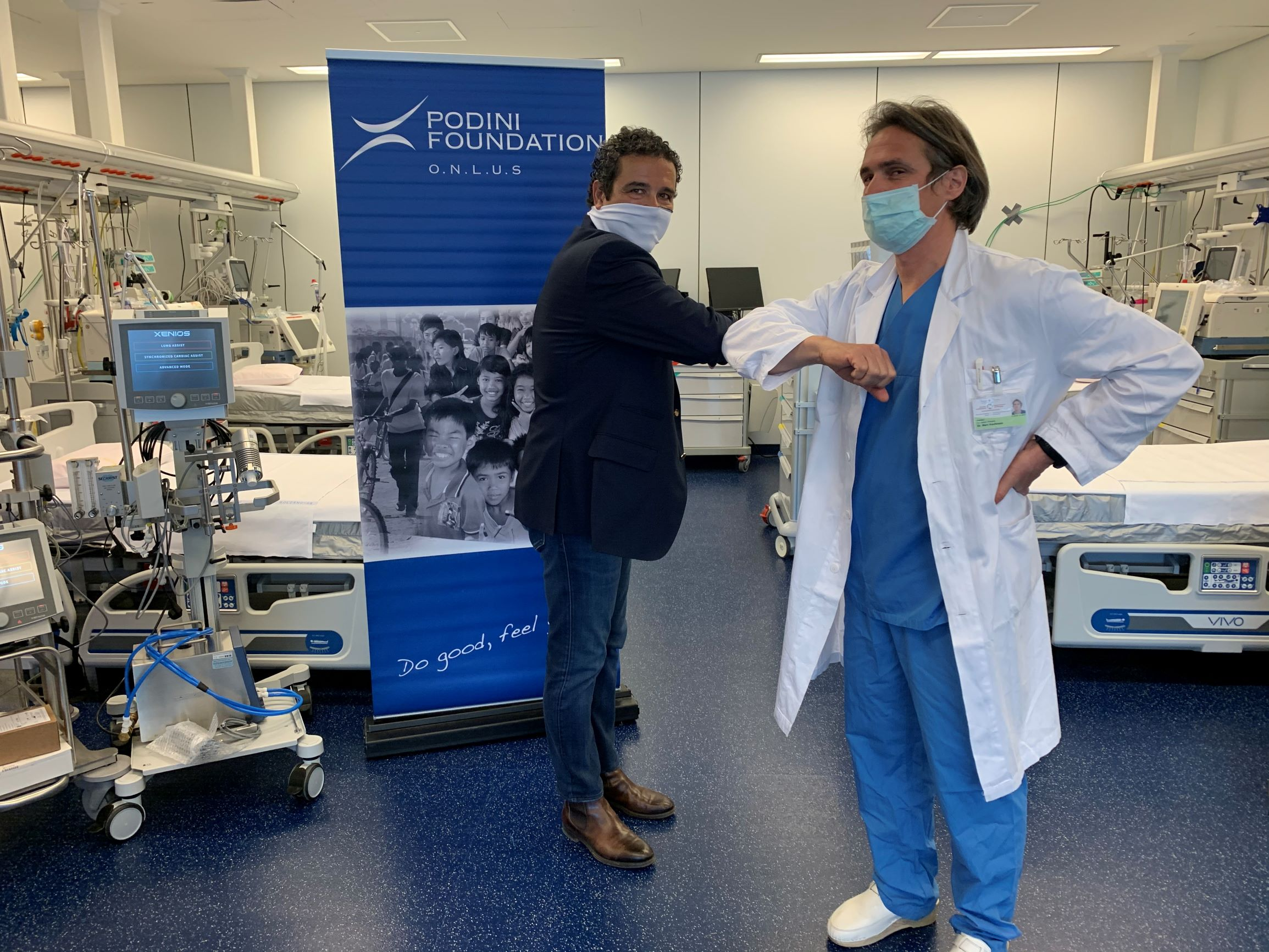 ALREADY FUNCTIONING AT THE HOSPITAL IN BOLZANO THE LIFE-SAVING MACHINERY  DONATED BY THE PODINI-FOUNDATION