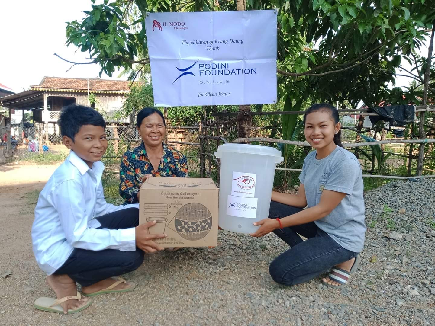 CAMBODIA: CLEAN WATER THANKS TO THE PODINI FOUNDATION